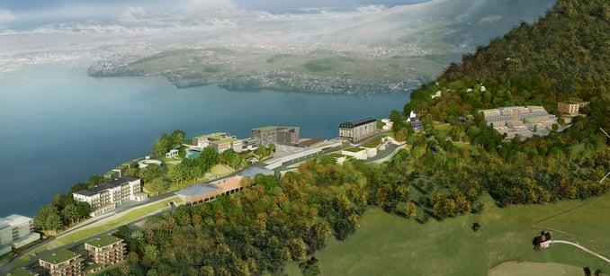 Switzerland Buergenstock Hotel - birdseye view